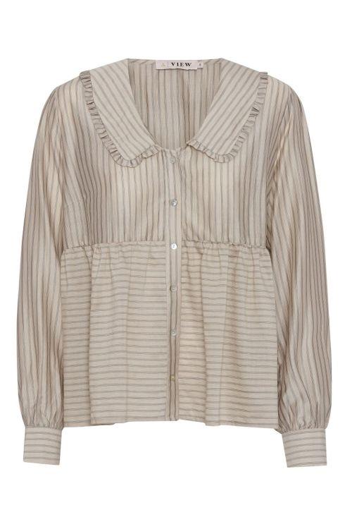 A-View Skjorte Karoline Shirt Beige Front