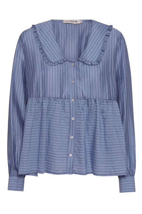 A-View Skjorte Karoline Shirt Blue Front1