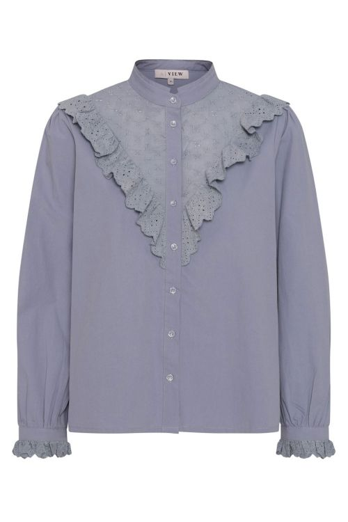 A-View Skjorte Katja Shirt Blue Powder Front