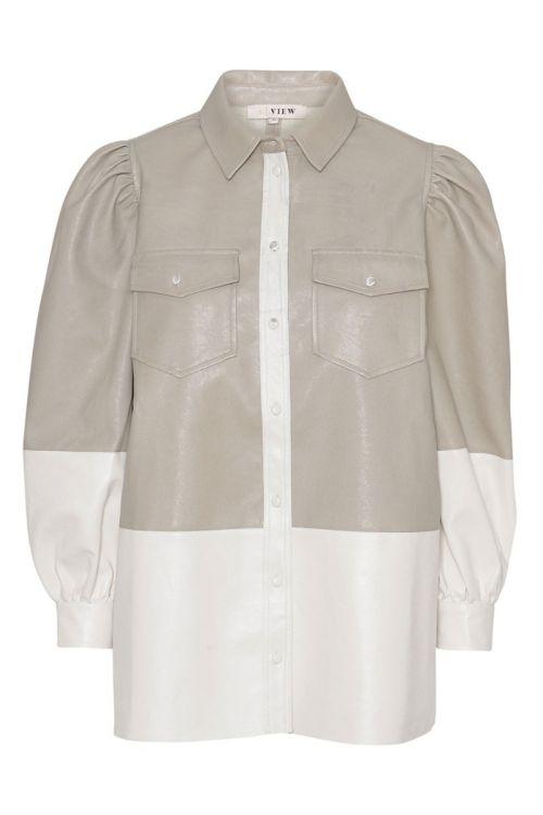A-View - Skjorte - Orlando Shirt - Beige/Off white