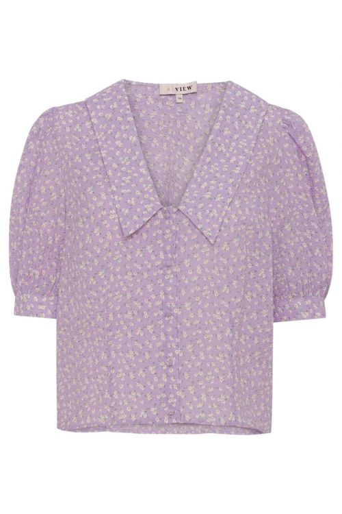 A-View Skjorte Ria SS Shirt Lavendel Front