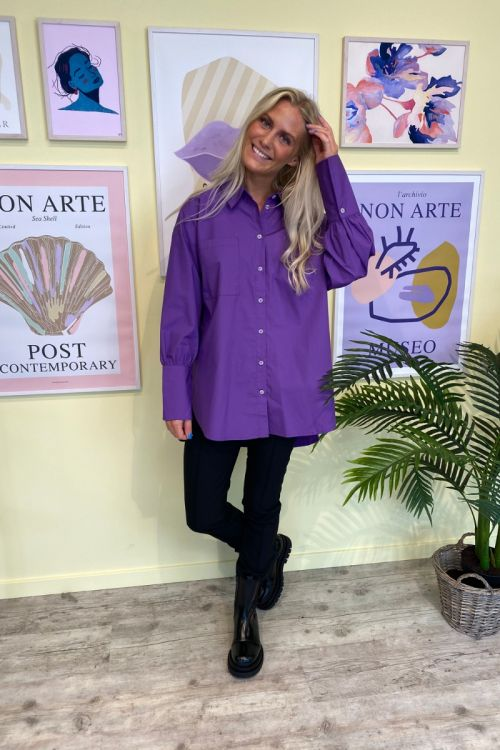 A-View  Skjorte  Sofie 300  Purple Front