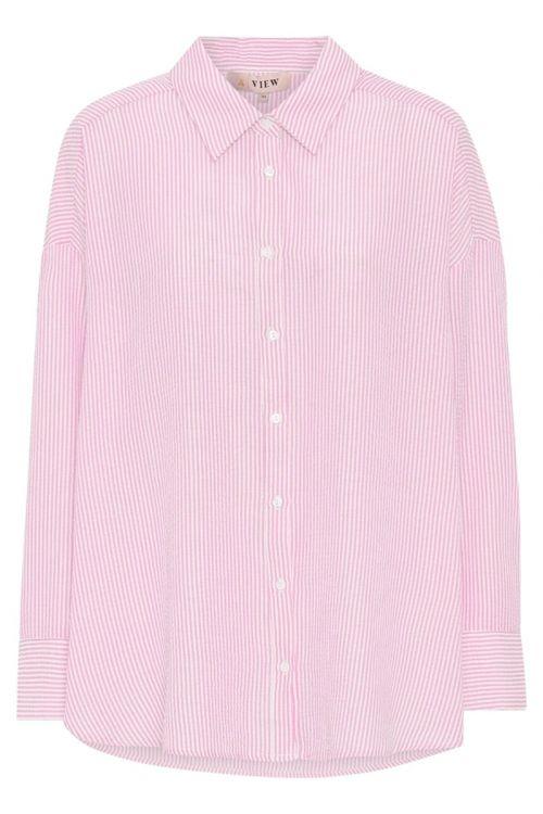 A-View Skjorte Sonja Shirt Pink/White Front