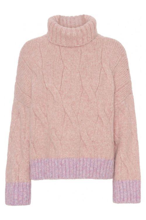 A-View - Strik - Viol Knit - Pink/Multicolor