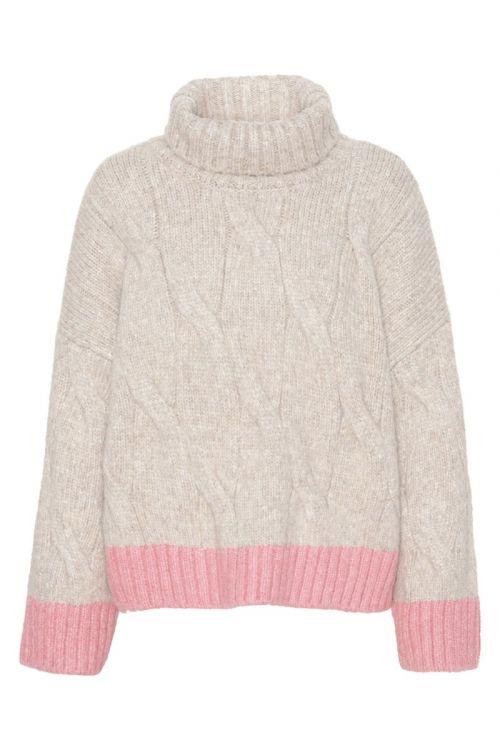 A-View - Strik - Viol Knit - Nature/Pink