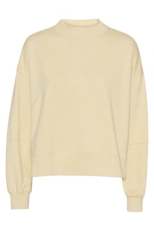 A-View - Sweatshirt - Olga Wweat - Pale Yellow