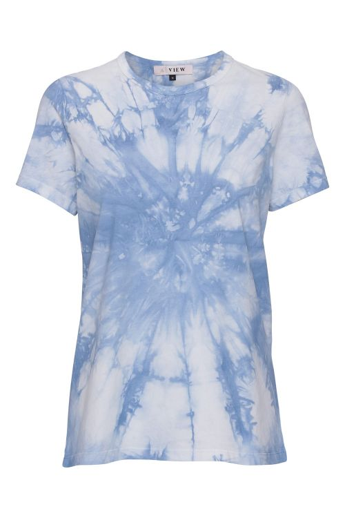 A-View T-shirt Great Batik Light Blue Front