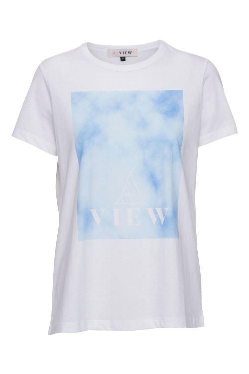 A-View T-shirt Great Sky White Front