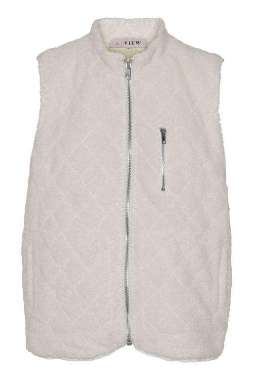 A-View Vest Ona Teddy Vest Off white Front