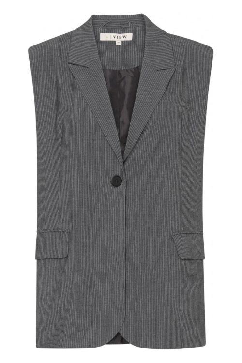 A-View - Vest - Villa Blazer Vest - Dark Grey