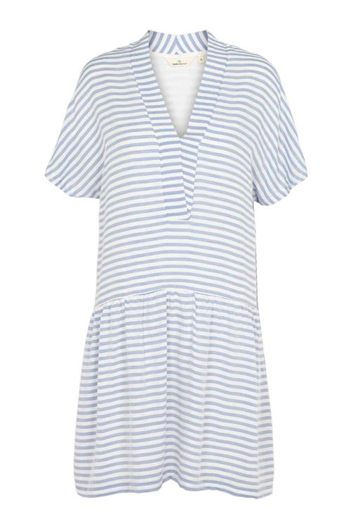 Basic Apparel Kjole Jenice Dress Blue Stripe Front