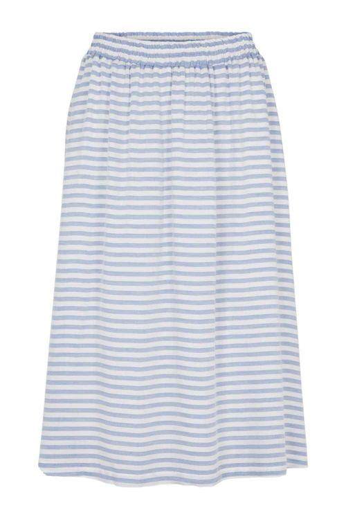 Basic Apparel Nederdel Jenice Skirt Blue Stripe Front