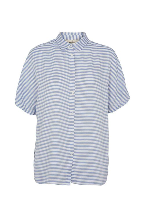Basic Apparel Skjorte Jenice Shirt Blue Stripe Front