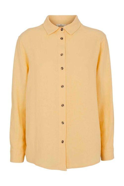 Basic Apparel Skjorte Trine Shirt Straw Front