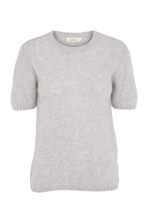 Basic Apparel T-shirt Marnie Tee Light Grey Mel Front