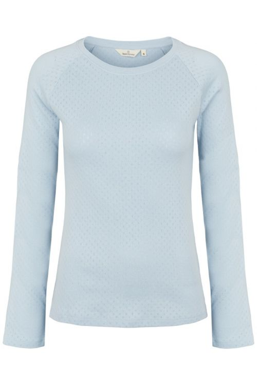 Basic Apparel - Bluse - Arense LS Tee - Cashmere Blue
