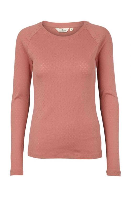 Basic Apparel Bluse Arense LS Tee Old Rose Front