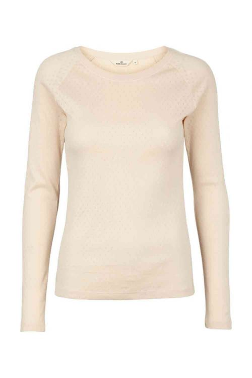 Basic Apparel - Bluse - Arense LS Tee - Sand Dollar