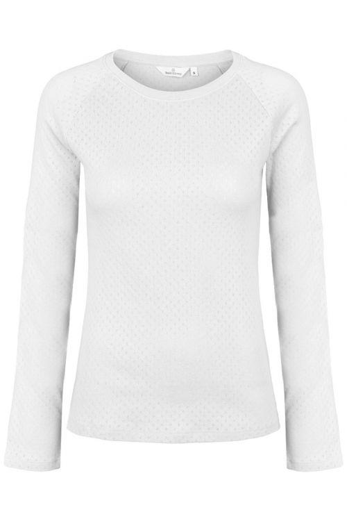 Basic Apparel - Bluse - Arense LS Tee - White