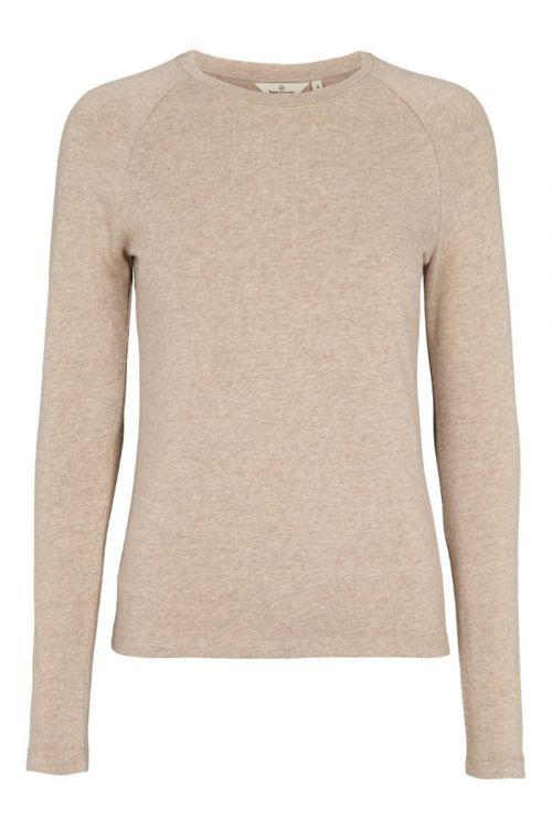 Basic Apparel - Bluse - Arina LS Tee - Khaki