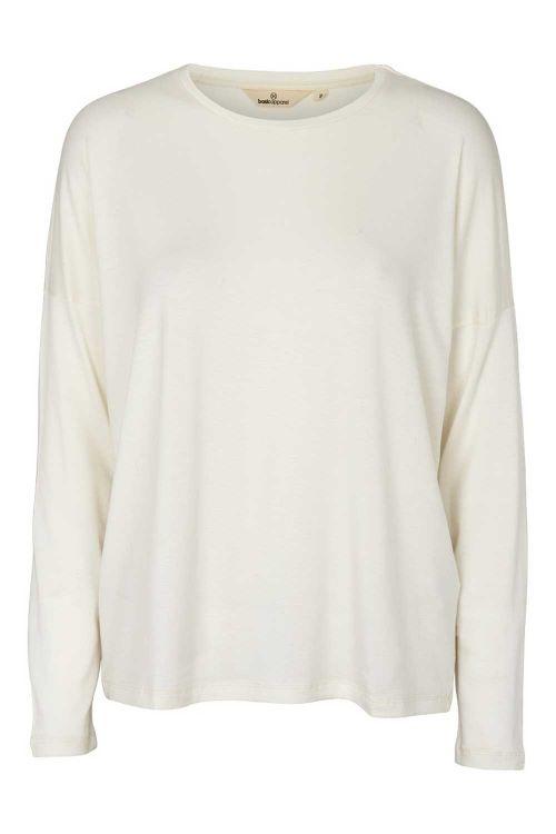 Basic Apparel Bluse Joline LS Tee Chalk Front