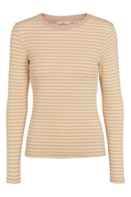 Basic Apparel - Bluse - Ludmilla LS Tee - Rose Dust/Custard