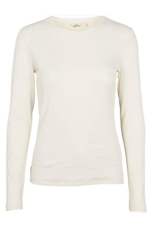 Basic Apparel - Bluse - Ludmilla LS Tee - Whisper White