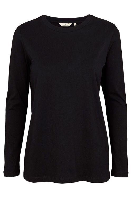 Basic Apparel Bluse Rikke LS Tee Organic Black Front