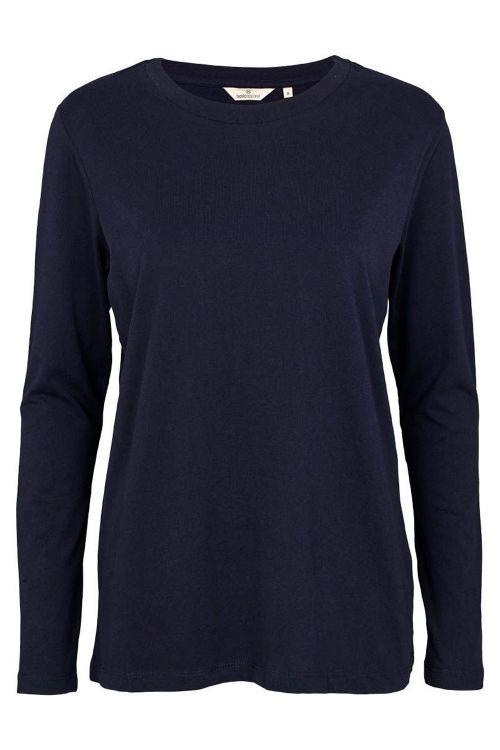 Basic Apparel Bluse Rikke LS Tee Organic Navy Front