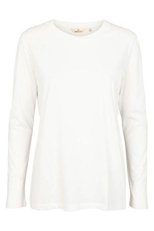 Basic Apparel Bluse Rikke LS Tee Organic White Front