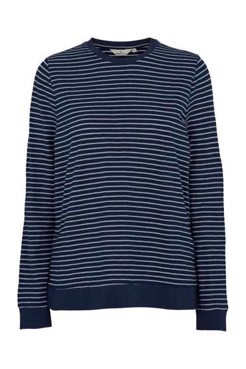 Basic Apparel Bluse Saga Sweatshirt Navy/White Front
