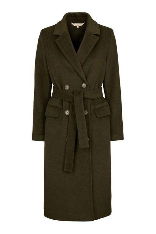 Basic Apparel Jakke Clara Coat Army Front