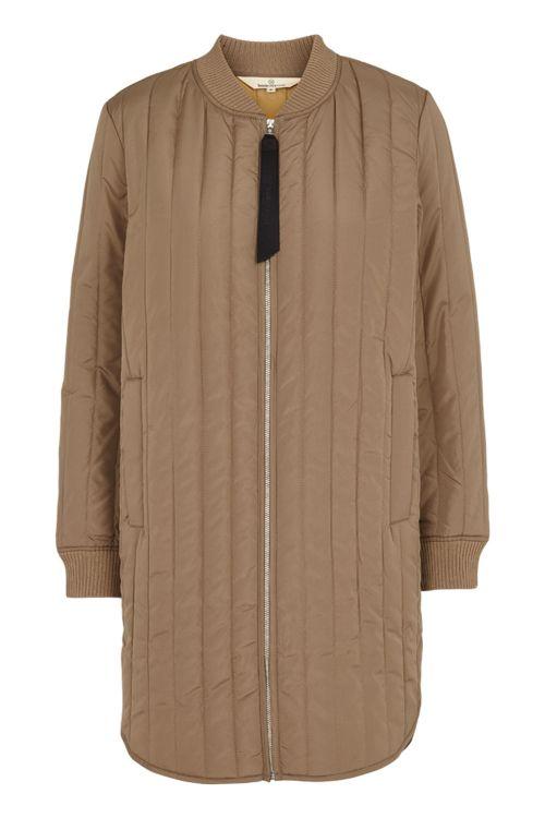 Basic Apparel Jakke Louisa Jacket Khaki Front