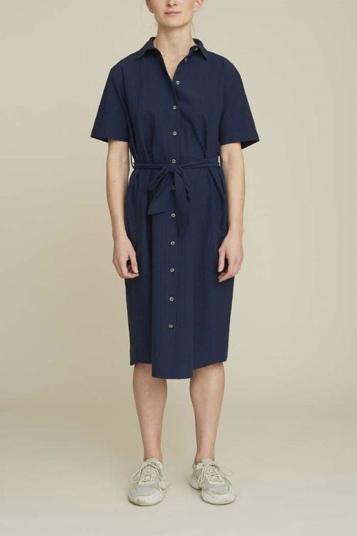 Basic Apparel Kjole Joan Dress Navy Hover