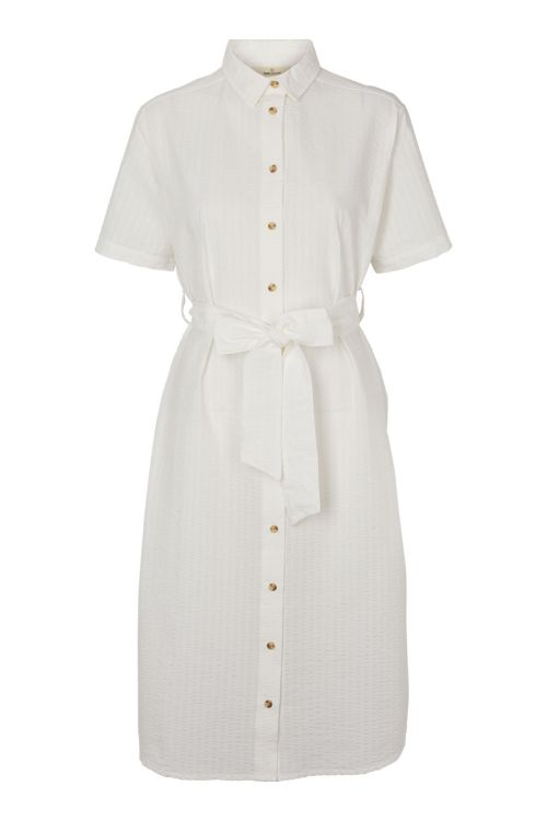 Basic Apparel Kjole Joan Dress Off White Front