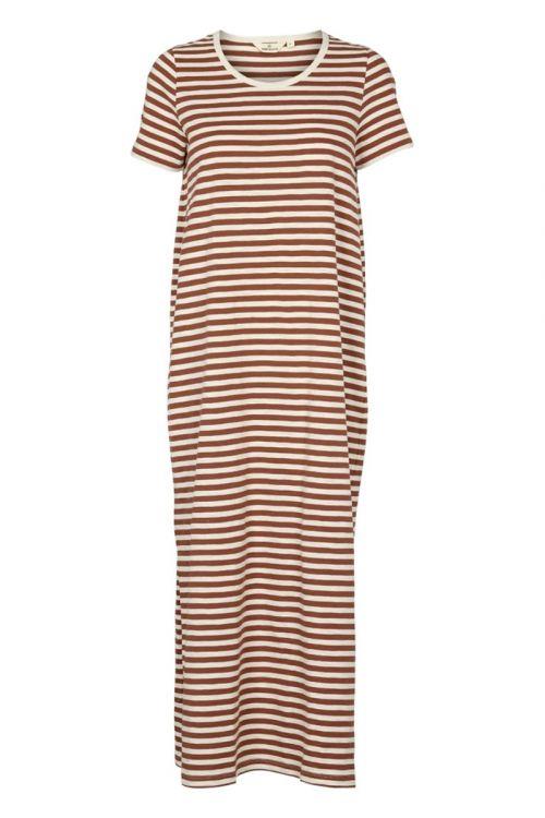 Basic Apparel Kjole Rita Tee Long Dress Mink Front