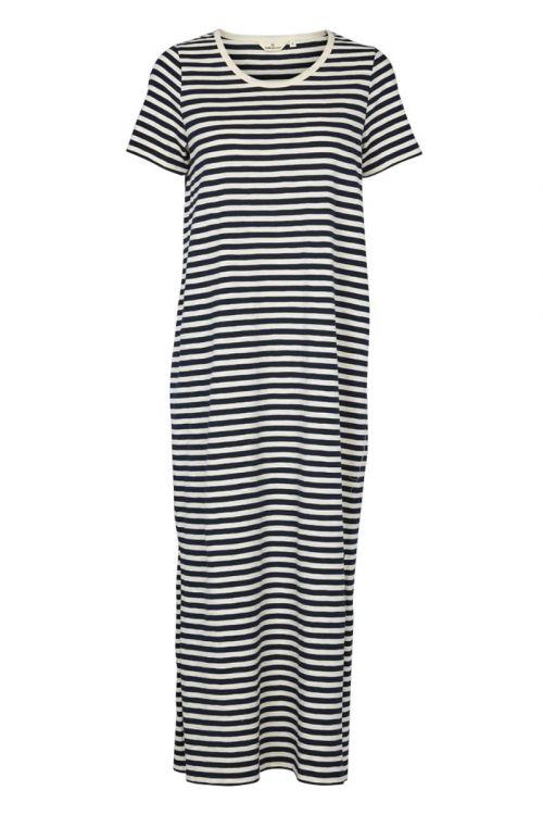 Basic Apparel Kjole Rita Tee long Dress Navy Front