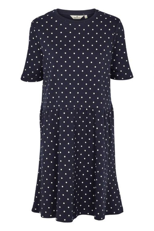 Basic Apparel Kjole Signe Dress Dot Navy Front