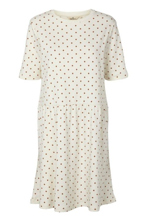 Basic Apparel Kjole Signe Dress Dot Off White Front