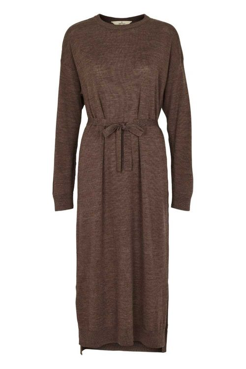 Basic Apparel Kjole Vera Dress Brown Melange Front