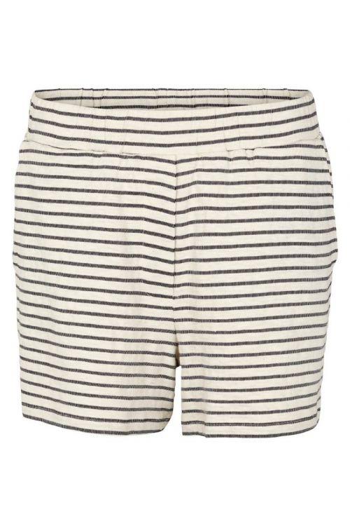 Basic Apparel - Shorts - Saga Shorts - Off white/Black