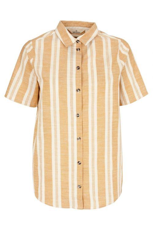 Basic Apparel - Skjorte - Evita SS Shirt - Inca gold