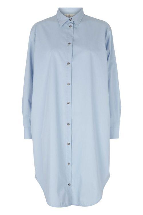 Basic Apparel - Skjorte - Vilde Loose Shirt Dress - Cashmere blue