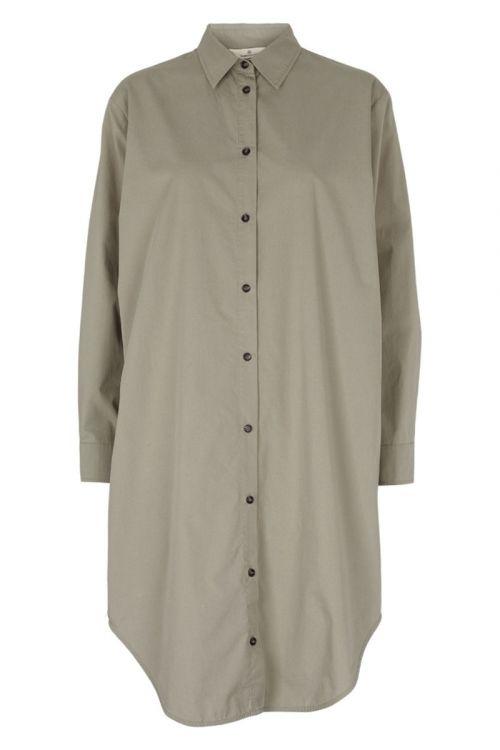 Basic Apparel - Skjorte - Vilde Loose Shirt Dress - Dried sage