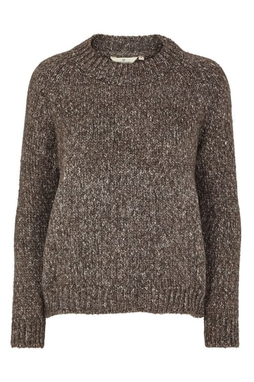 Basic Apparel Strik Aliki Sweater Brown Mel Front