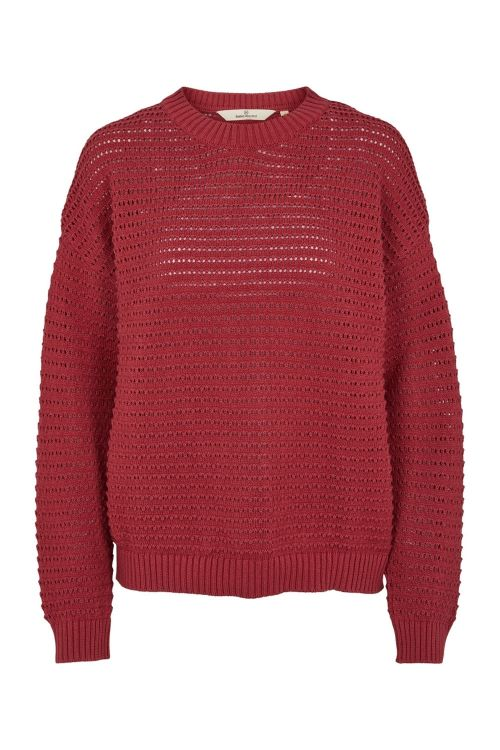 Basic Apparel Strik Enya Sweater Earth Red Front