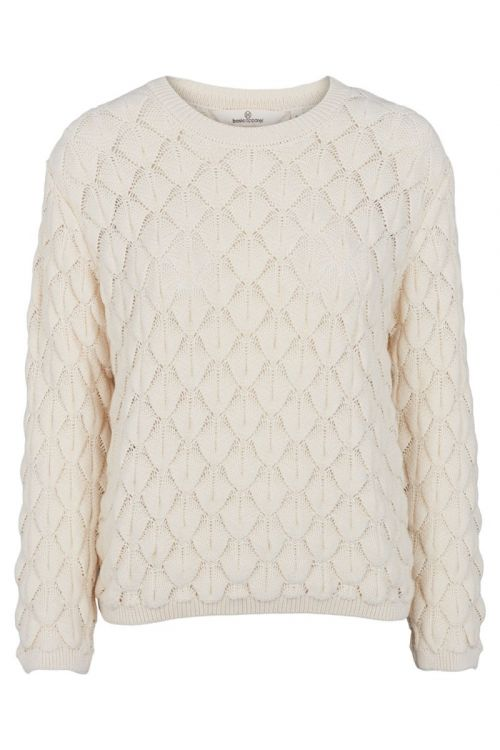 Basic Apparel - Strik - Milla Sweater - Whisper White
