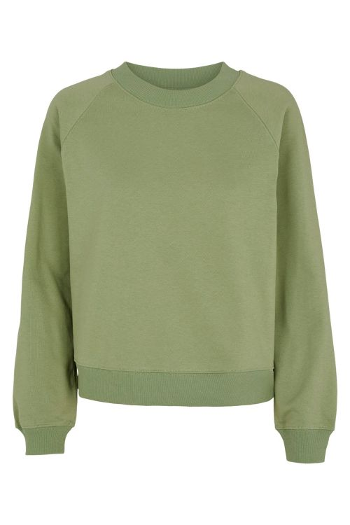 Basic Apparel Sweat Maje Sweatshirt Oil Green Front