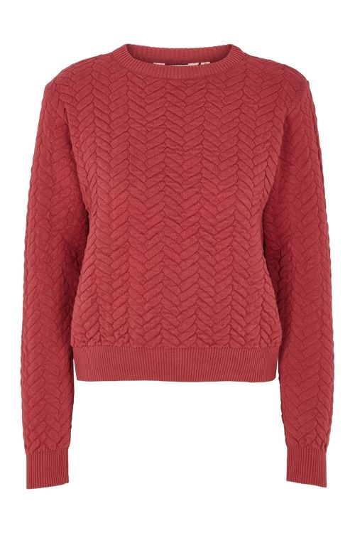 Basic Apparel Sweat Tilde Sweater Earth Red Front