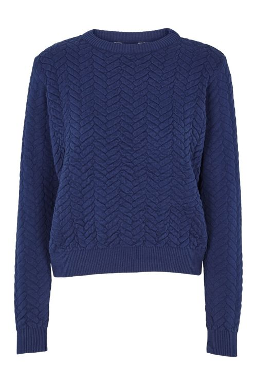 Basic Apparel Sweat Tilde Sweater Indigo Front